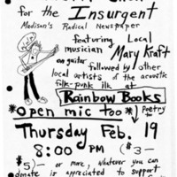 Benefit show for the Insurgent: Madison's radical newspaper